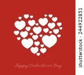 valentines day card with heart. ... | Shutterstock .eps vector #244922851