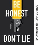 words be honest don't lie | Shutterstock .eps vector #244924807