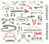 vector hand drawn flat marker... | Shutterstock .eps vector #244933927