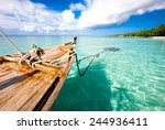 boat on the water  indian ocean.... | Shutterstock . vector #244936411