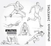 illustration of athletics. hand ... | Shutterstock .eps vector #244937041