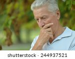 portrait of senior man thinking ... | Shutterstock . vector #244937521