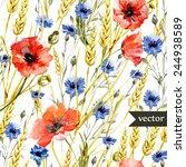 Poppy  Cornflower  Wheat  Wate...