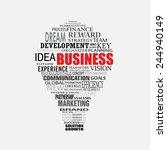 business strategy light bulb... | Shutterstock .eps vector #244940149