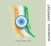 creative indian republic day... | Shutterstock .eps vector #244945567