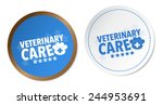 veterinary care stickers | Shutterstock .eps vector #244953691