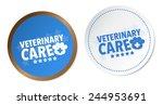 veterinary care stickers | Shutterstock .eps vector #244953691