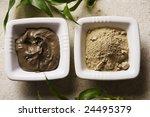 algae and natural mud for body masks - stock photo