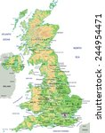 high detailed united kingdom... | Shutterstock .eps vector #244954471