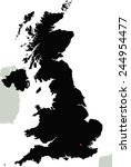 highly detailed united kingdom... | Shutterstock .eps vector #244954477