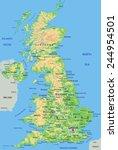 high detailed united kingdom...   Shutterstock .eps vector #244954501