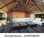 beautiful modern interior loft... | Shutterstock . vector #244958839