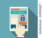 data privacy in cloud computing ... | Shutterstock .eps vector #244963627