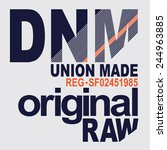 denim original typography  t... | Shutterstock .eps vector #244963885