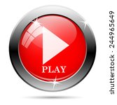 play icon. internet button on... | Shutterstock .eps vector #244965649