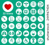 medical icons set  general ... | Shutterstock .eps vector #244967404