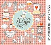recipes concept card. vintage... | Shutterstock .eps vector #244974727