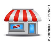 storefront icon | Shutterstock .eps vector #244978345