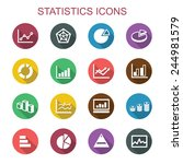statistics long shadow icons ... | Shutterstock .eps vector #244981579
