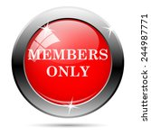 members only icon. internet...   Shutterstock .eps vector #244987771