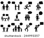 people with speech bubbles icons | Shutterstock .eps vector #244993357