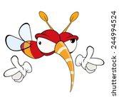 cartoon illustration of a red... | Shutterstock .eps vector #244994524