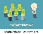 vector crowd funding concept... | Shutterstock .eps vector #244994575