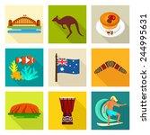 australia icon set | Shutterstock .eps vector #244995631