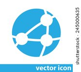 global network vector icon | Shutterstock .eps vector #245000635