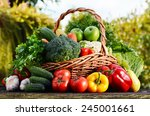 Wicker Basket With Assorted Ra...