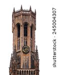 Gothic Tower Isolated On A...