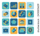 set of financial icons for... | Shutterstock .eps vector #245005609