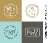 vector gluten free badges and...