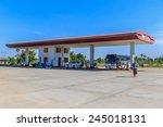 mandalay  myanmar   dec 7  gas... | Shutterstock . vector #245018131