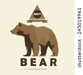 bear logo simple vector image... | Shutterstock .eps vector #245019961