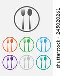 fork and spoon icon  ... | Shutterstock .eps vector #245020261