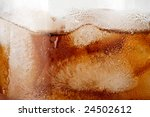 cold fizzy cola with ice in a... | Shutterstock . vector #24502612