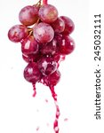 red grapes on a white background | Shutterstock . vector #245032111