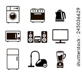 household appliances icons with ... | Shutterstock .eps vector #245036629