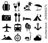 traveling icons.vector | Shutterstock .eps vector #245040271