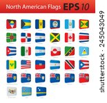 north american flags | Shutterstock .eps vector #245043049