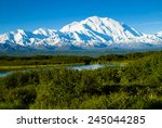 denali from near wonder lake | Shutterstock . vector #245044285