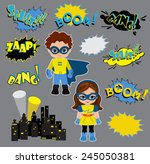 colorful cartoon text captions. ... | Shutterstock .eps vector #245050381
