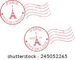 Postal Grunge Stamps 'paris...