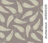 seamless background with thorny ... | Shutterstock .eps vector #245053105