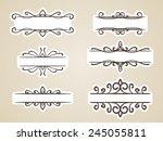 calligraphic headline frame... | Shutterstock .eps vector #245055811