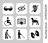 physically disability related... | Shutterstock .eps vector #245056039