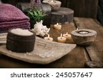 spa and wellness setting with... | Shutterstock . vector #245057647