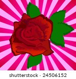 red beauty rose  clip art | Shutterstock .eps vector #24506152