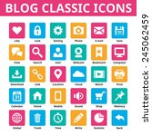business blog classic icons....   Shutterstock .eps vector #245062459
